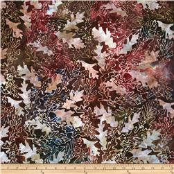 Batavian Batiks Forest Leaves Raspberry Multi
