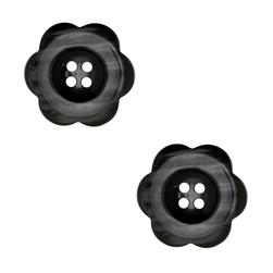 Riley Blake Sew Together 2'' Flower Button Black