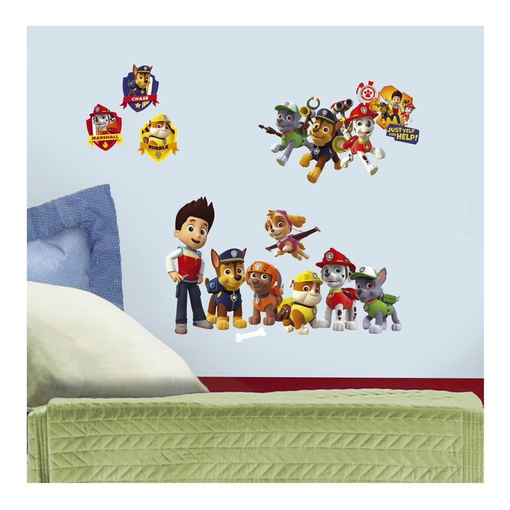 Paw patrol wall decals discount designer fabric fabric amipublicfo Images