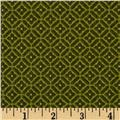 Bonsoir Flannel Diamond Plaid Green