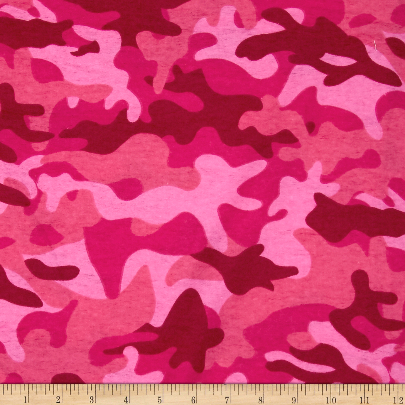 Flannel Camo Pink Fabric by Newcastle in USA