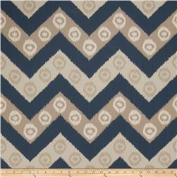 Fabricut 50034w Chevron Wallpaper Navy 04 (Double Roll)
