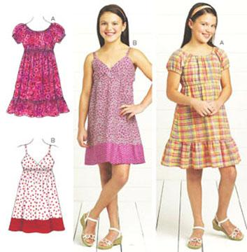 Kwik Sew Girl's Dresses Pattern