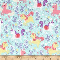 Michael Miller Unicorn Princess Unicorn Frolic Seafoam
