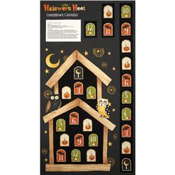 Halloween Hoot Advent Calendar Panel Black