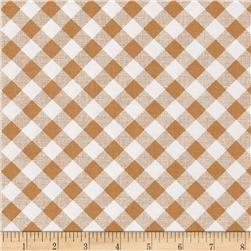 Riley Blake Sew Cherry 2 Gingham Nutmeg