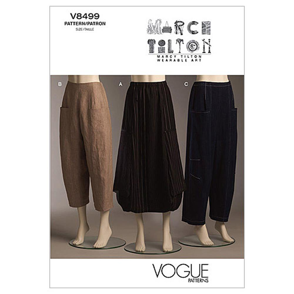 Vogue Misses' Skirt and Pants Pattern V8499 Size AA0