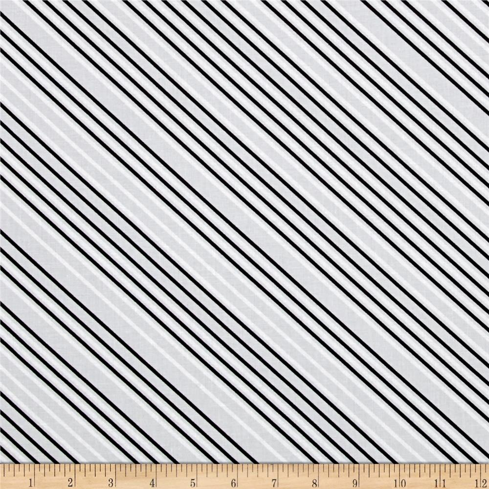Paper Obsessed Airmail Stripe Greyscale