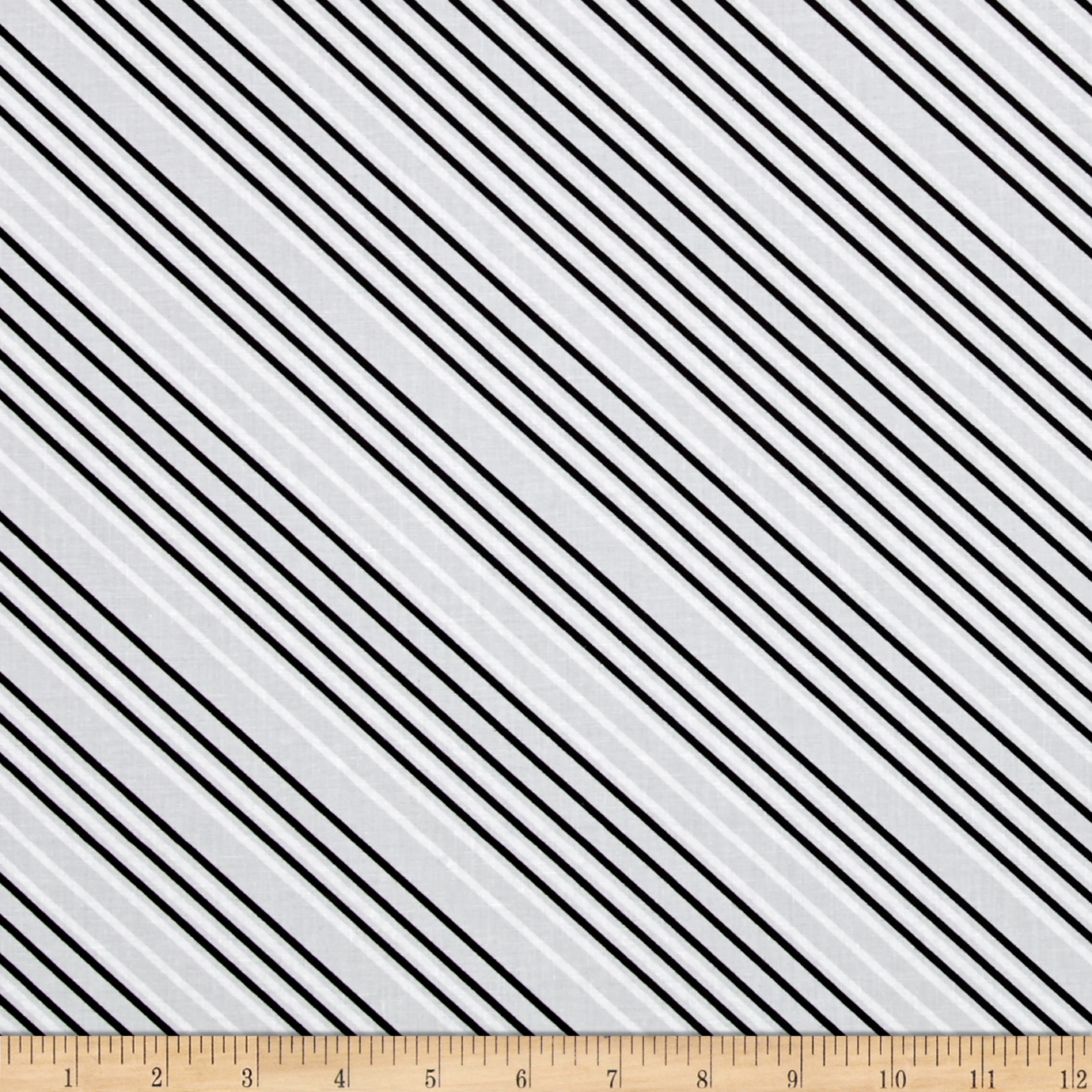 Paper Obsessed Airmail Stripe Greyscale Fabric 0437452