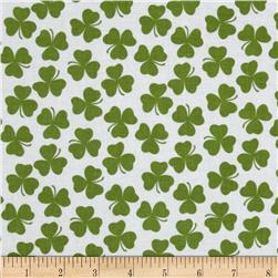 Riley Blake Holiday Banners Clover White