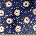 Riley Blake Floriography Laminate Floral Blue