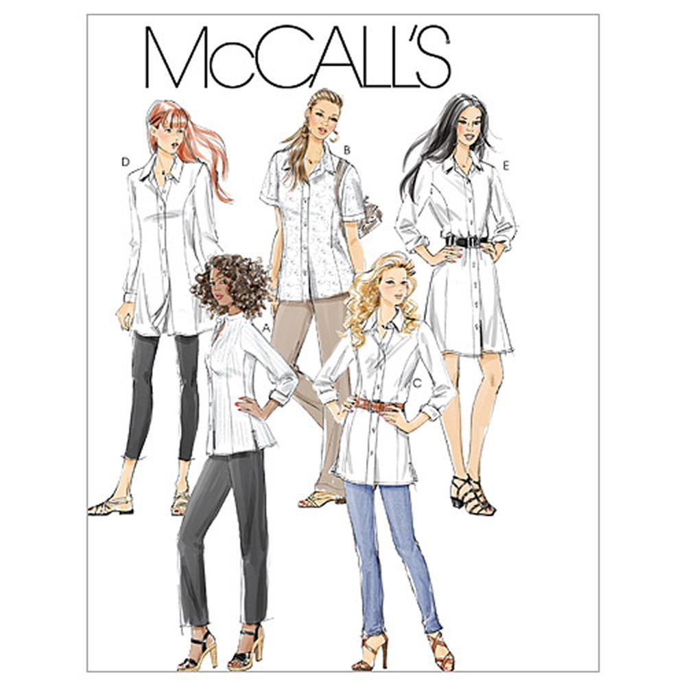 McCall's Misses'/Miss Petite/Women's/Women's Petite Shirts In 3
