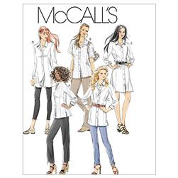 McCall's Misses'/Miss Petite/Women's/Women's Petite Shirts In 3 Lengths Pattern M6124 Size B50