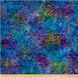 Kaufman Batiks To The Point Diagonal Rainbow