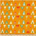 Happy Camper Flannel Teepees + Tents Orange
