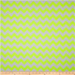 Riley Blake Chevron Neon Yellow Fabric