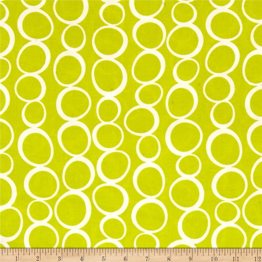 Moda Mixed Bag Flannel Bubbles Lime