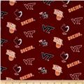 Collegiate Cotton Broadcloth Virginia Tech