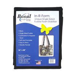 Bosal In-R-Form Single Sided Fusible 1 yard Foam Stabilizer Black