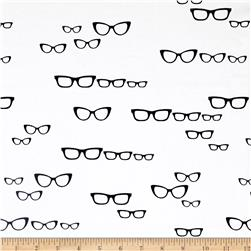 Avalana Jersey Knit Eye Glasses Black/White