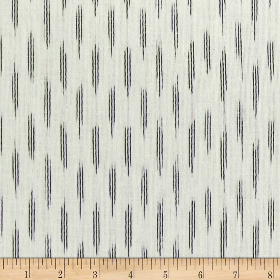 Andover Dream Weaves Ikat Mini Stripe White Fabric by Andover & Makower in USA