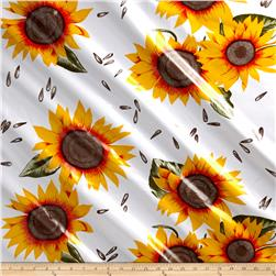 Oil Cloth Sunflower Yellow/White