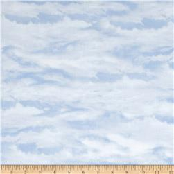 Sleigh Ride Clouds Light Blue