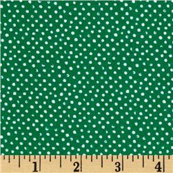 Mini Confetti Dot Emerald Fabric