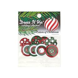 Dress It Up Embellisment Buttons  Colors Of Christmas