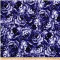 Belleflower Large Tonal Floral Plum