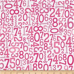 Riley Blake Surprise! Numbers Pink