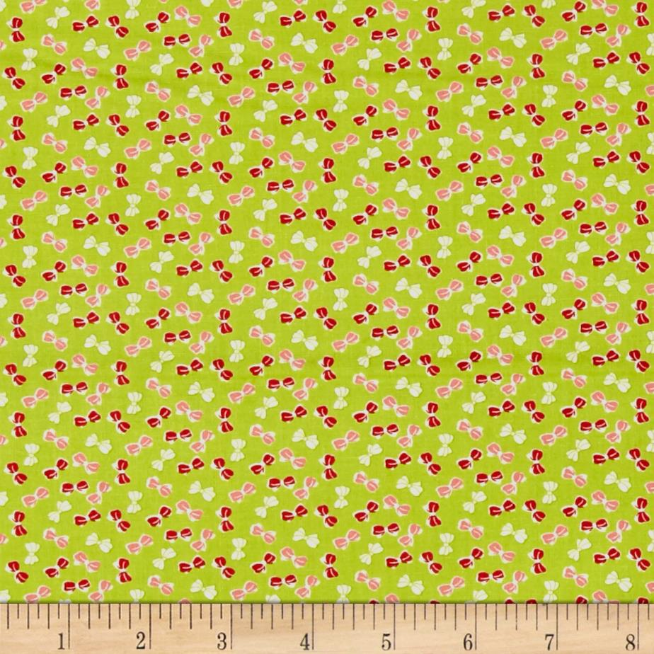 Moda Little Ruby Little Bows Green