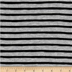 Stripe Ruffle Knit Heather Gray/Black