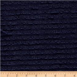 Bisou Stretch Mini Ruffle Knit Navy