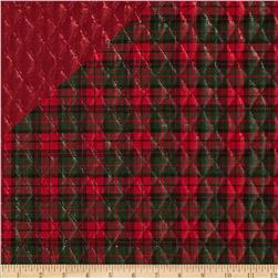 Holiday Blitz Double Sided Quilted Plaid Red