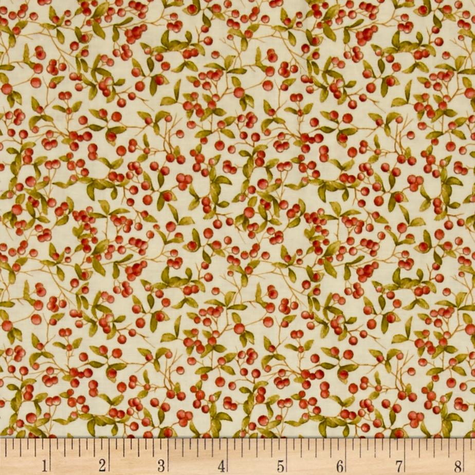 Penny Rose Autumn Hue Berries Cream Fabric by Christensen in USA