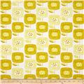 Cloud 9 Organic  Canvas Around the Block Big Blooms Yellow