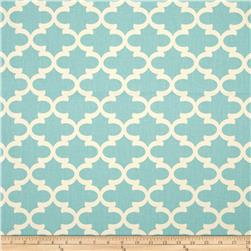 Premier Prints Fulton Village Blue/Natural Fabric
