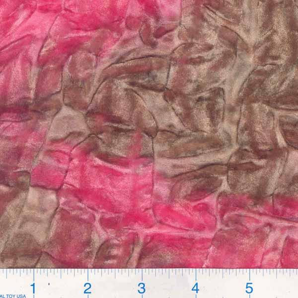 Crushed Stretch Velvet Pink Tie Dye