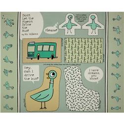 Don't Let the Pigeon Drive the Bus Organic Panel Mint