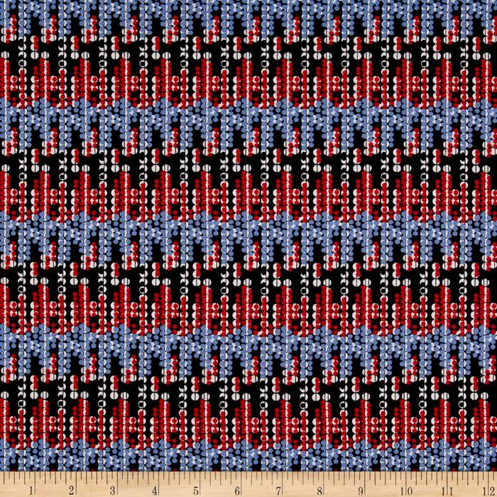 Scuba Dot Red White & Blue