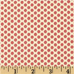 Moda Petite Prints Pacquerette Pearl - Faded Red