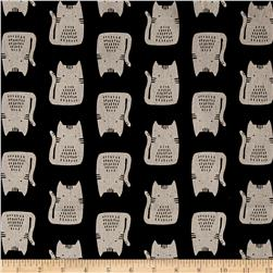 Maker Maker Linen Blend Cats Black