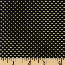Pearle Gold Small Dot Black/Gold Pearl Fabric
