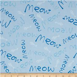 Paw Prints Meow Blue