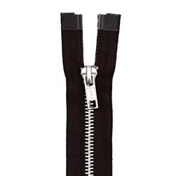 "Coats & Clark Heavy Weight Aluminum Separating Zipper 24"" Black"