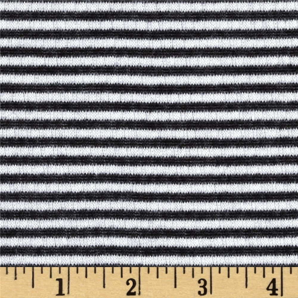 Double Sided Rayon Blend Knit Stripe Dot Black/White