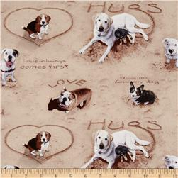 Sand Scribbles Dog Allover Sand