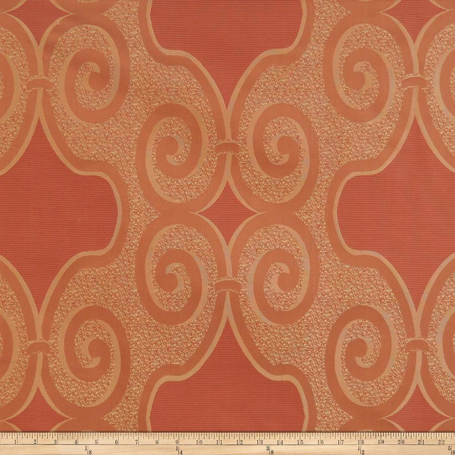 Fabricut Ross Scroll Faux Silk Spice