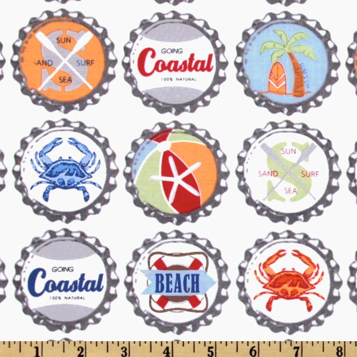Michael Miller Going Coastal Collection Bottle Caps Multi